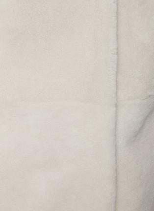 - YVES SALOMON - Single-breast Lamb Fur Long Coat