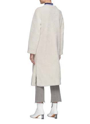 Back View - Click To Enlarge - YVES SALOMON - Single-breast Lamb Fur Long Coat