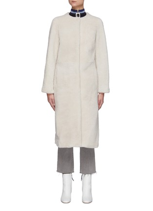 Main View - Click To Enlarge - YVES SALOMON - Single-breast Lamb Fur Long Coat