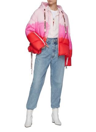 Figure View - Click To Enlarge - KHRISJOY - Puff Khris' Drawstring Hooded Tie Dye Puffer Jacket