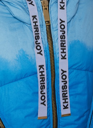 - KHRISJOY - Puff Khris' Drawstring Hooded Tie Dye Puffer Vest