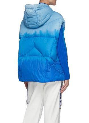 Back View - Click To Enlarge - KHRISJOY - Puff Khris' Drawstring Hooded Tie Dye Puffer Vest