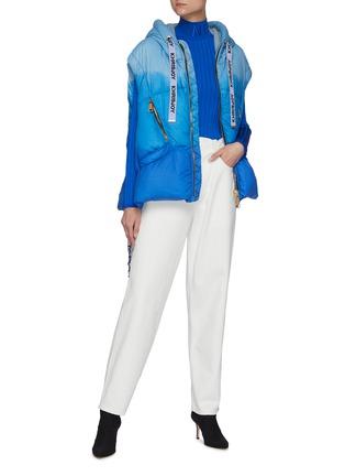 Figure View - Click To Enlarge - KHRISJOY - Puff Khris' Drawstring Hooded Tie Dye Puffer Vest