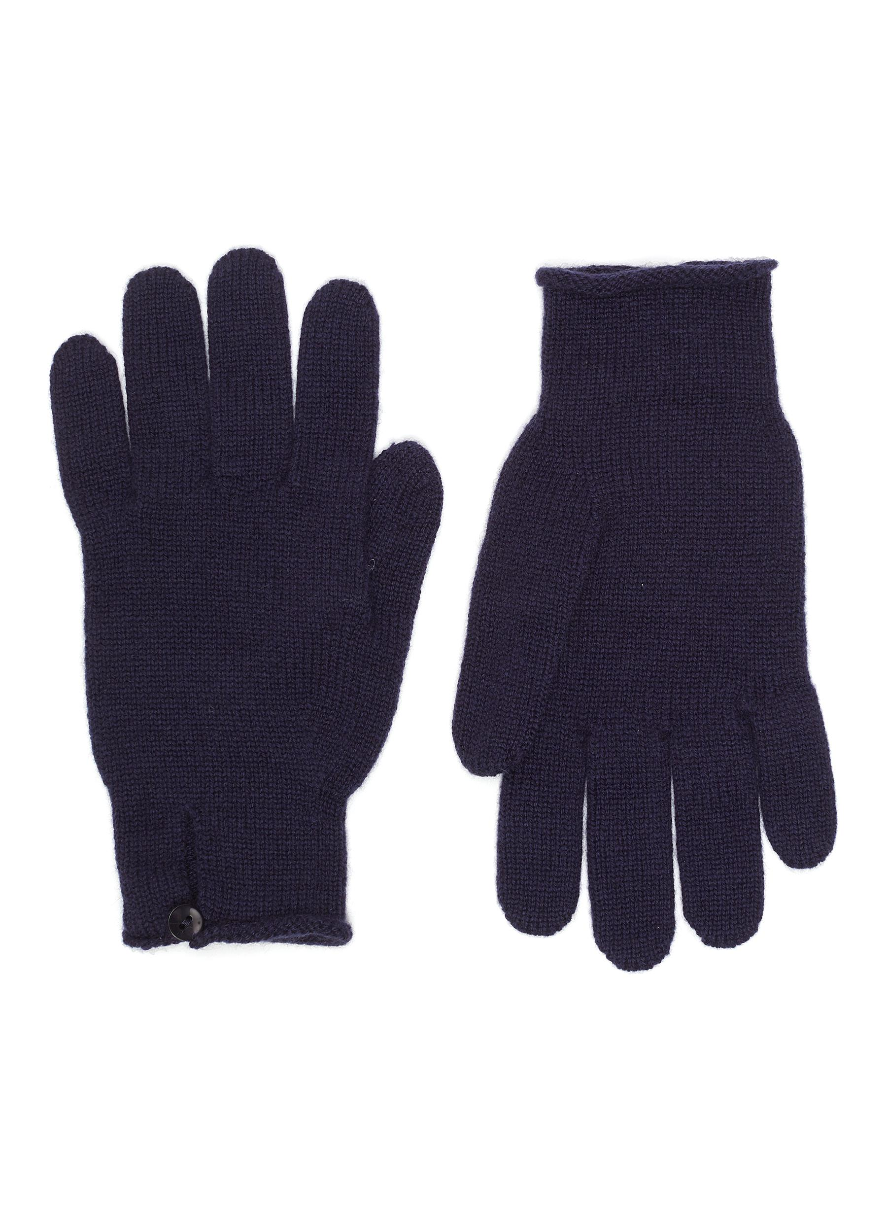 Cashmere Button Loop Gloves