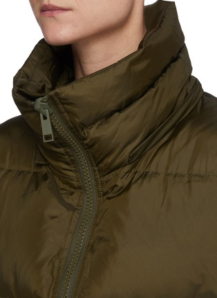 Detail View - Click To Enlarge - ARMY BY YVES SALOMON - A-Line Down Fox Hood Trim Puffer Jacket