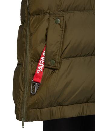 - ARMY BY YVES SALOMON - A-Line Down Fox Hood Trim Puffer Jacket