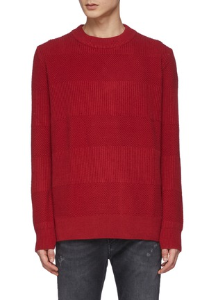 Main View - Click To Enlarge - DENHAM - Coldane Knitted Stripe Sweater