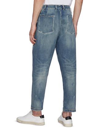 Back View - Click To Enlarge - DENHAM - Fatigue Vintage Paint Taper Jeans