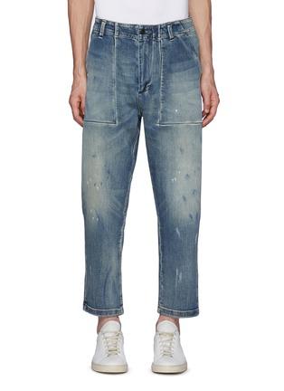 Main View - Click To Enlarge - DENHAM - Fatigue Vintage Paint Taper Jeans