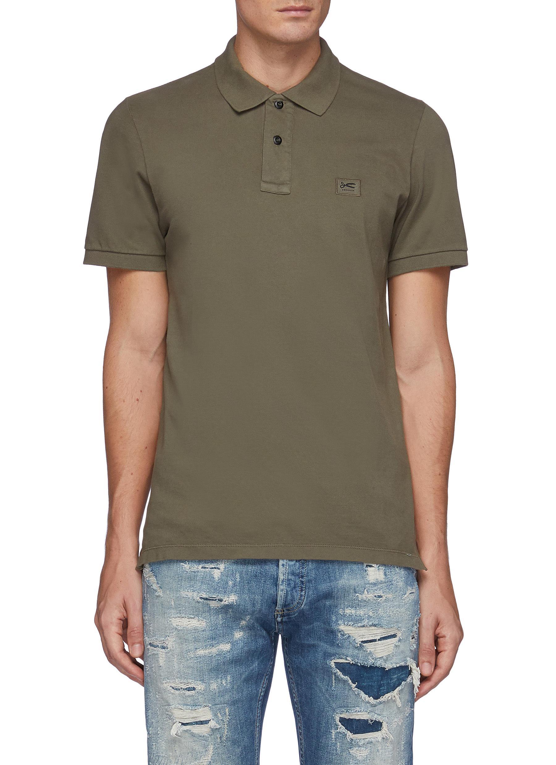 Regency' Patch Logo Cotton Blend Polo Shirt