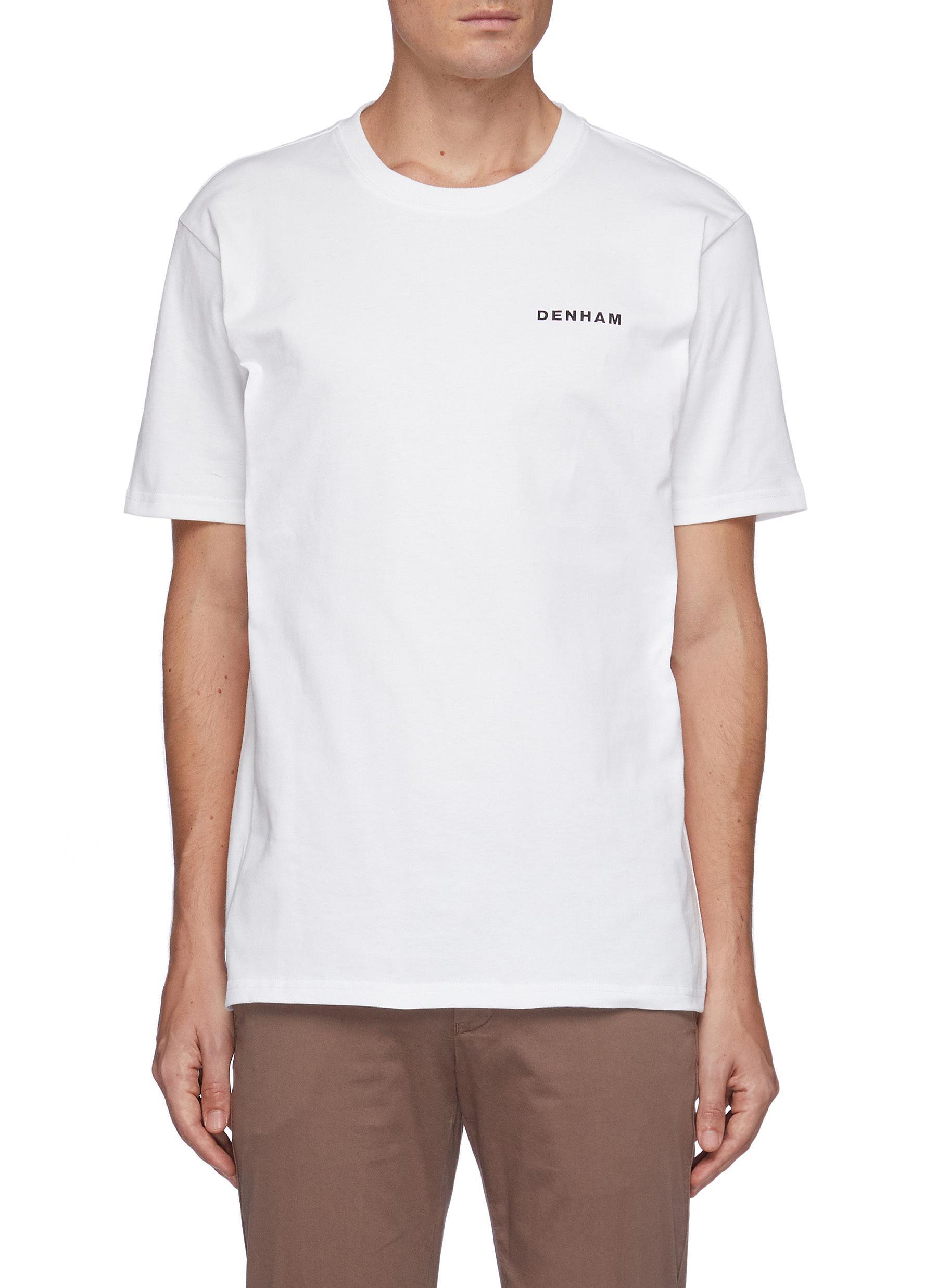 Morava' Octopus Print Cotton Crewneck T-Shirt