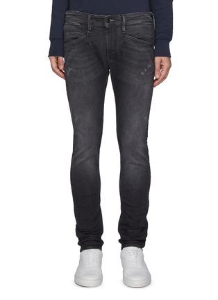 Main View - Click To Enlarge - DENHAM - Bolder' Free Move Washed Black Skinny Jeans