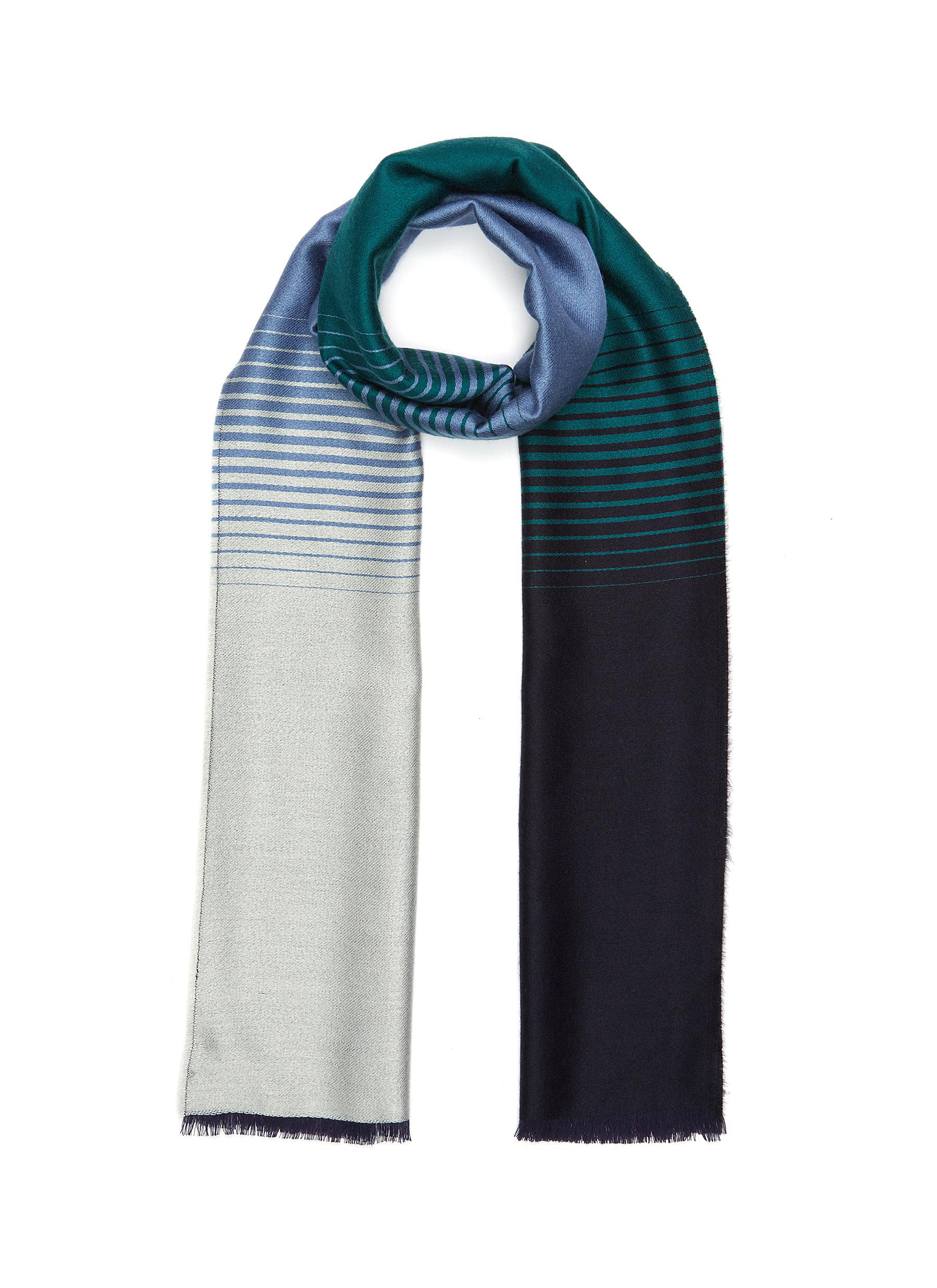 Cashmere and Silk Ombre Plain Scarf
