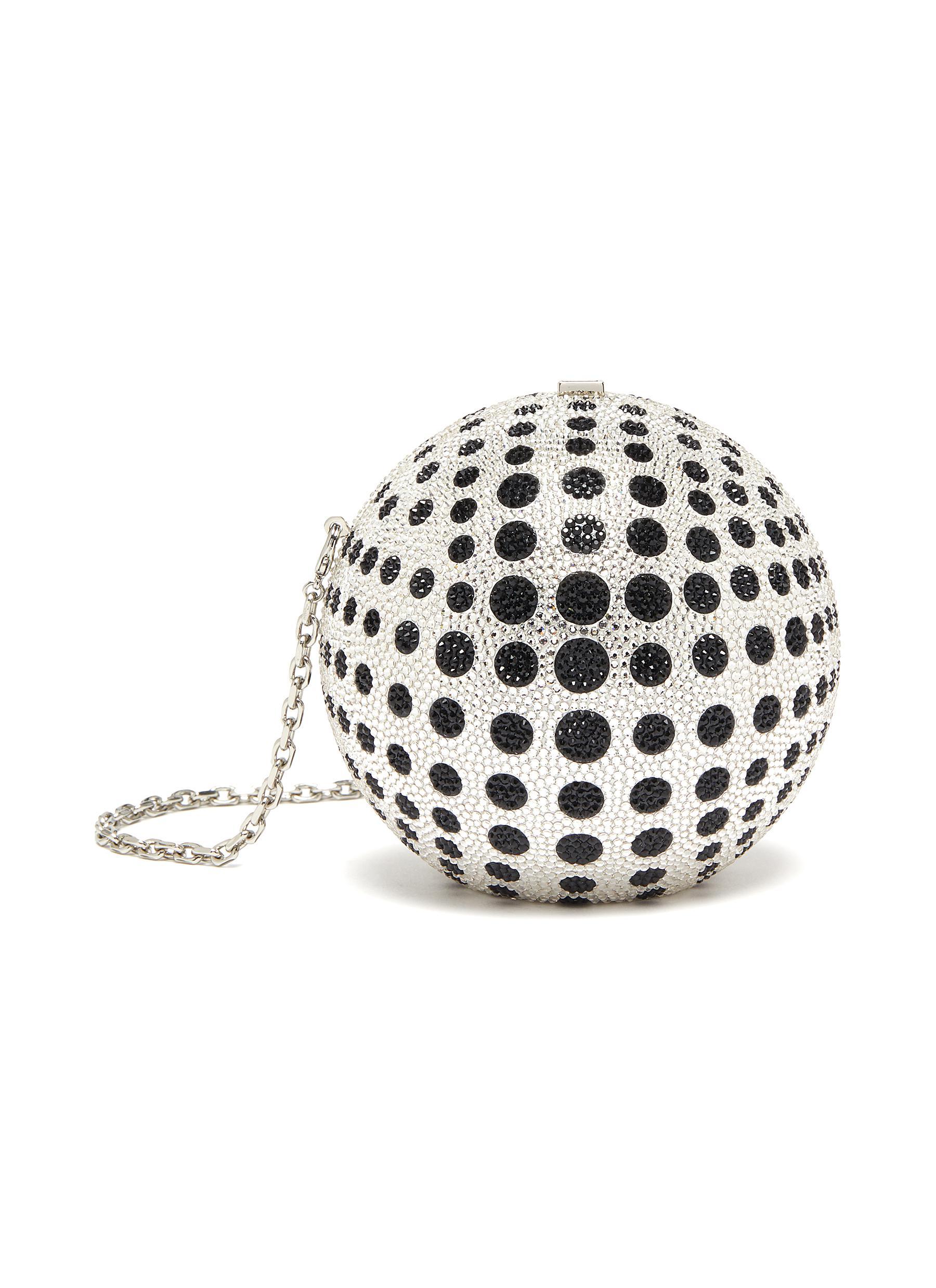 In Orbit Sphere' Polka Dot Crystal Embellished Bag