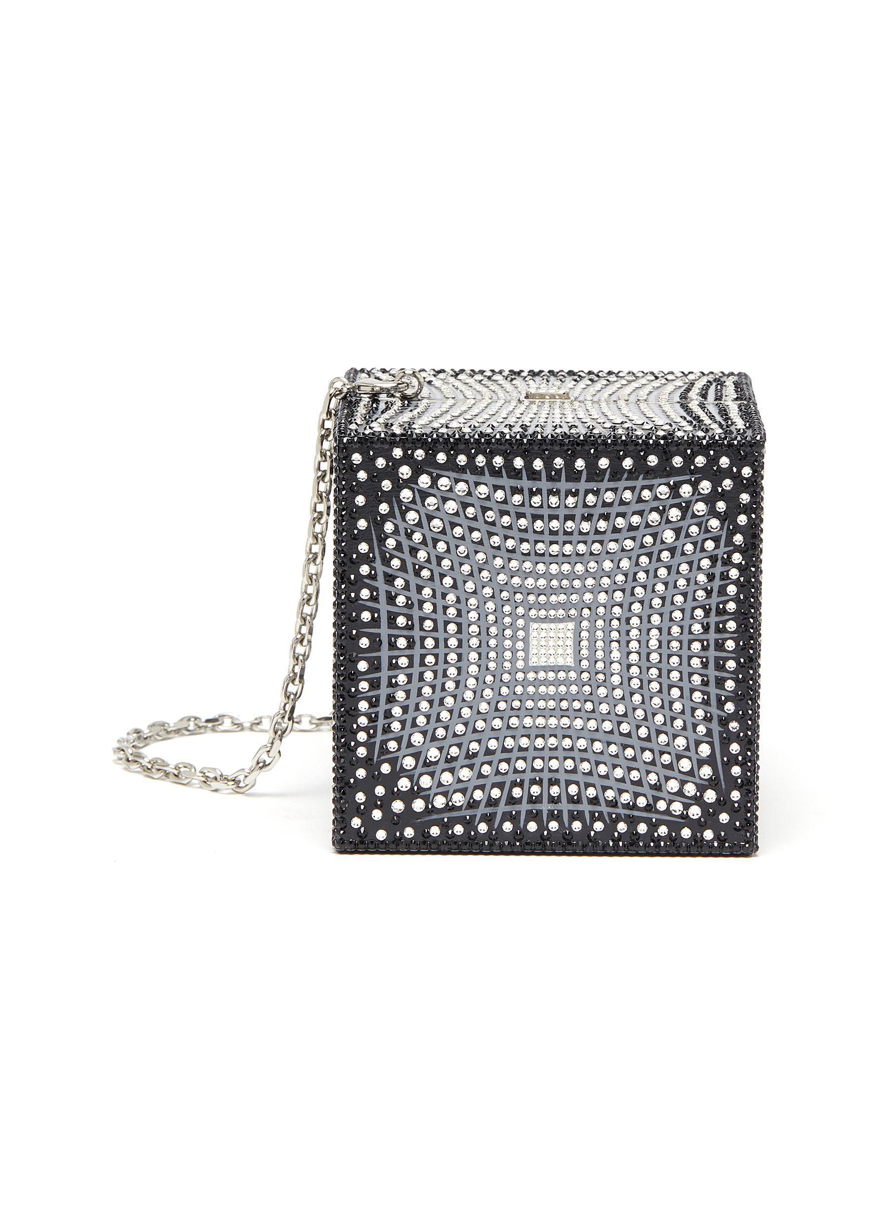 Gravity Cube' Crystal Embellished Bag