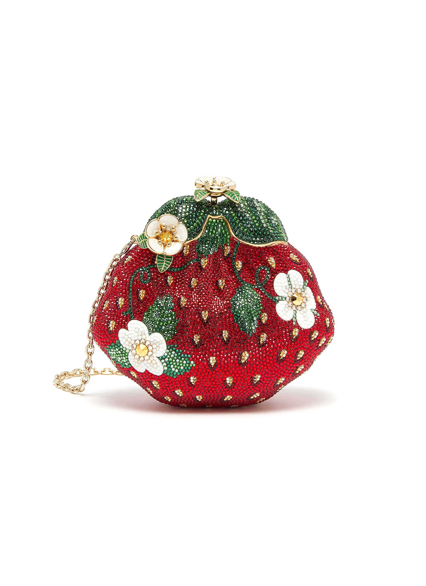 Floral Strawberry Embellished Clutch
