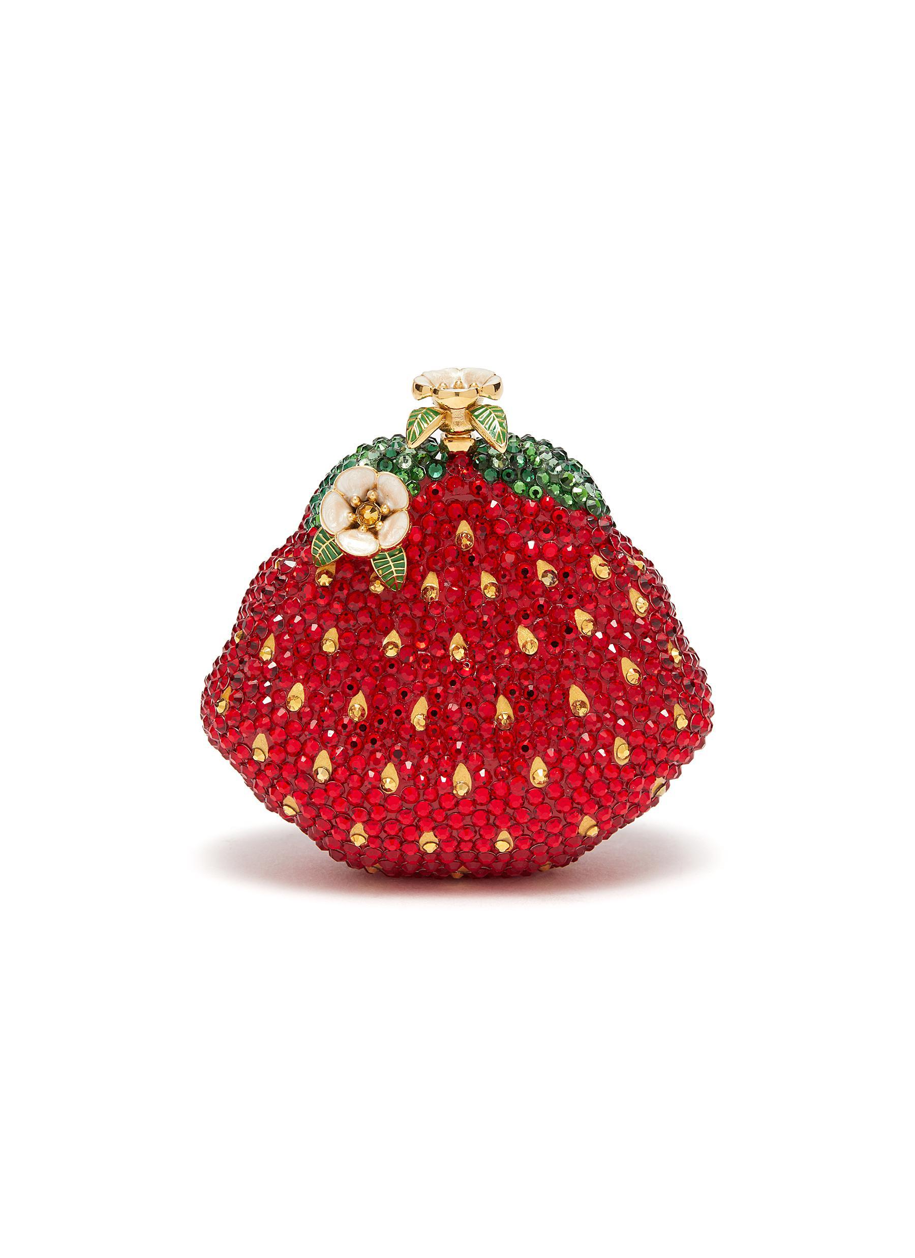 Strawberry Rhinestone Clutch