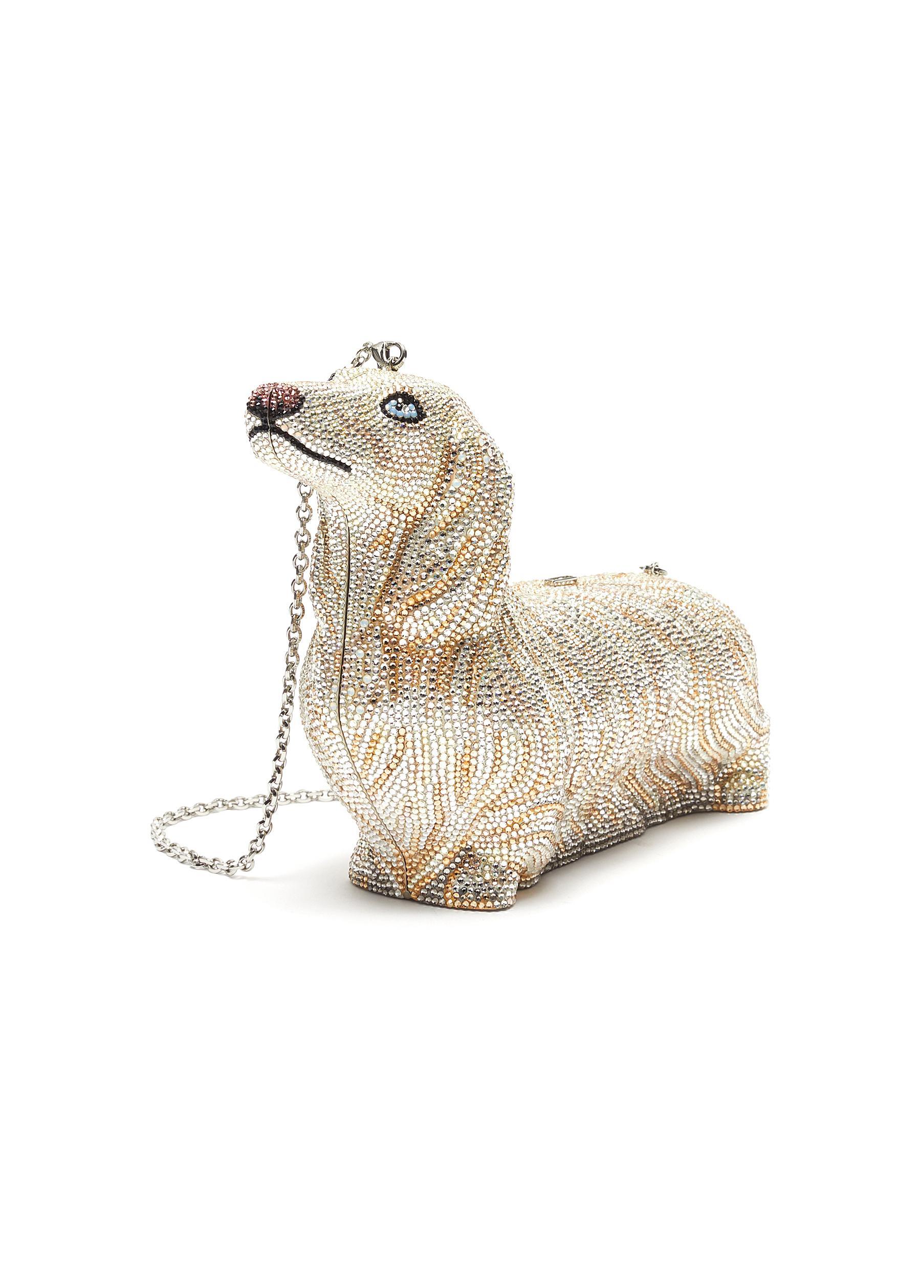 Blondie Dachshund' Embellished Bag