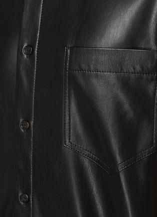- NANUSHKA - Chest pocket vegan leather shirt
