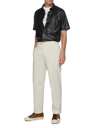 Figure View - Click To Enlarge - NANUSHKA - Chest pocket vegan leather shirt