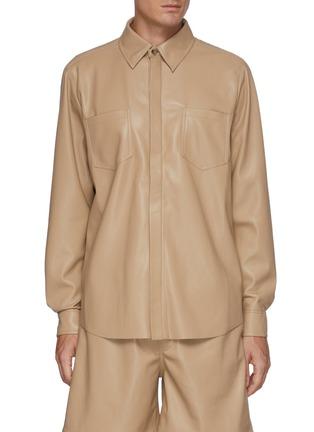 Main View - Click To Enlarge - NANUSHKA - Vegan leather shirt