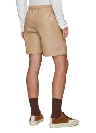 Back View - Click To Enlarge - NANUSHKA - Drawstring vegan leather shorts