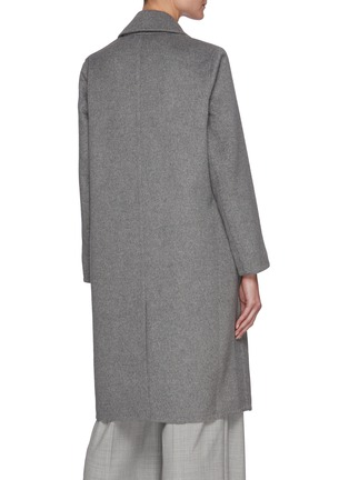 Back View - Click To Enlarge - VINCE - Overlapping Wool Blend Coat
