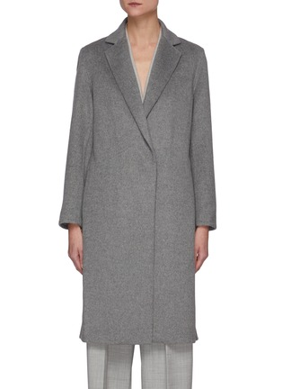 Main View - Click To Enlarge - VINCE - Overlapping Wool Blend Coat