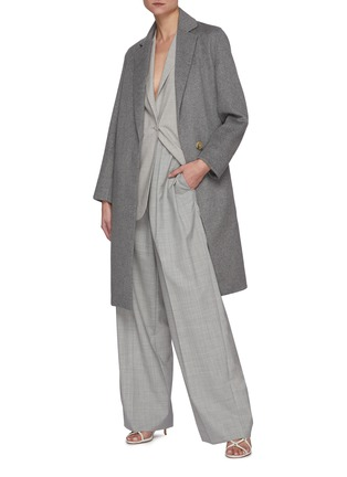 Figure View - Click To Enlarge - VINCE - Overlapping Wool Blend Coat