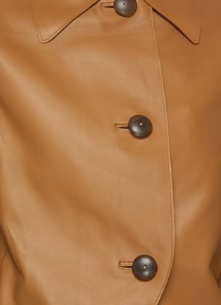 - VINCE - Cropped leather jacket
