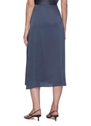 Back View - Click To Enlarge - VINCE - Satin Slip Midi Skirt
