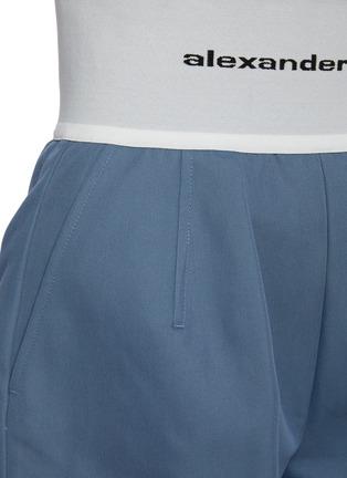 - ALEXANDERWANG - Branded Elastic Waist Cotton Blend Safari Shorts