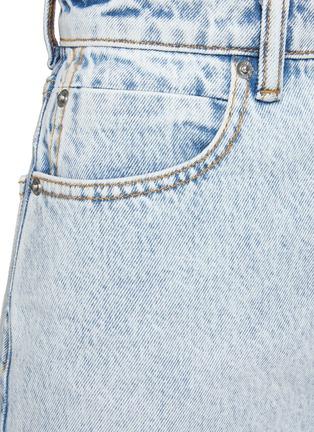 - ALEXANDERWANG - Distressed Hem Bleached High Rise Denim Shorts