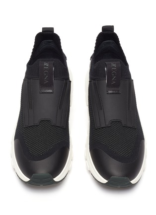 Detail View - Click To Enlarge - ERMENEGILDO ZEGNA - Techmerino Sock 2.0' Knitted Low-top Sneakers
