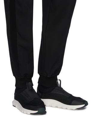 Figure View - Click To Enlarge - ERMENEGILDO ZEGNA - Techmerino Sock 2.0' Knitted Low-top Sneakers