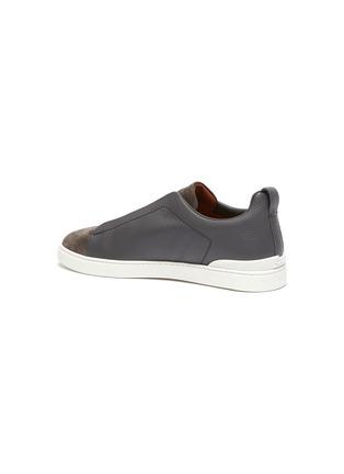 - ERMENEGILDO ZEGNA - Suede Leather Triple Stitch XXX Sneaker