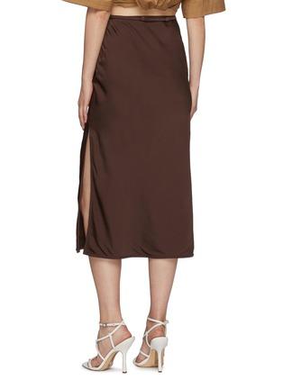 Back View - Click To Enlarge - JACQUEMUS - La Jupe Notte' Chain Detail Pencil Skirt