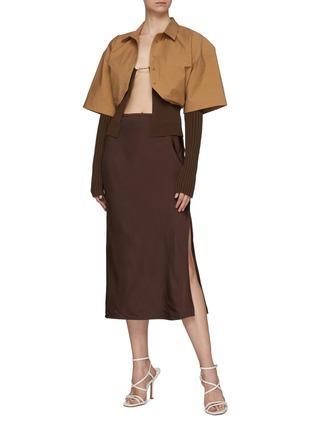 Figure View - Click To Enlarge - JACQUEMUS - La Jupe Notte' Chain Detail Pencil Skirt