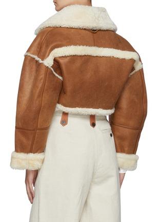 Back View - Click To Enlarge - JACQUEMUS - La Veste Paioù' Shearling Lambskin Jacket