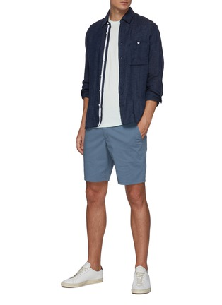 Figure View - Click To Enlarge - RAG & BONE - 'Paperweight' back contrast stitch detail chino shorts