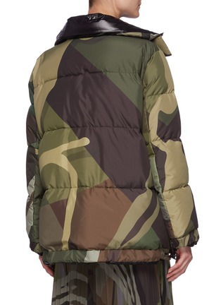 Back View - Click To Enlarge - SACAI - x KAWS Camouflage Print Puffer Jacket