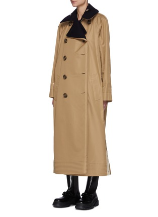 Detail View - Click To Enlarge - SACAI - Reversible Cotton Blend Trench Coat