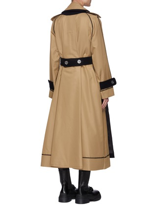Back View - Click To Enlarge - SACAI - Reversible Cotton Blend Trench Coat