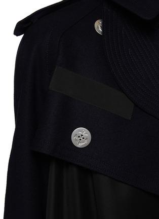 - SACAI - Hybrid Wool Melton Military Jacket Nylon Mix Parka