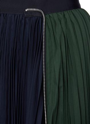 - SACAI - Zip Detail Duo-tone Pleated Midi Skirt