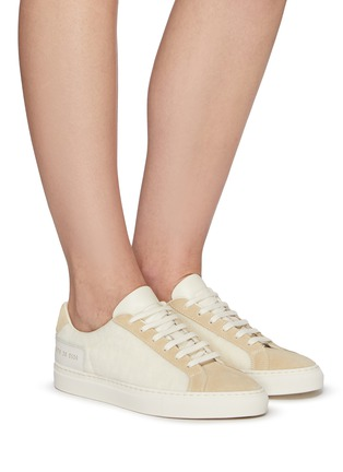 Figure View - Click To Enlarge - COMMON PROJECTS - Retro Wool Lace Up Sneaker