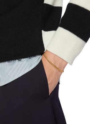 Figure View - Click To Enlarge - MISSOMA - 18k Gold Vermeil Round Curb Chain Bracelet