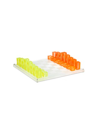 Main View - Click To Enlarge - JONATHAN ADLER - LUCITE CHESS SET – NEON