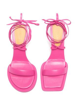 Detail View - Click To Enlarge - JACQUEMUS - Les Carre Rond' Mismatched Lace up Sandals