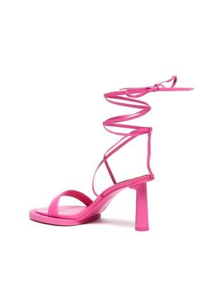 - JACQUEMUS - Les Carre Rond' Mismatched Lace up Sandals